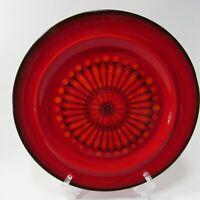"Metlox Poppytrail Medallion Red 572 Dinner Plate 10.75"" California USA"