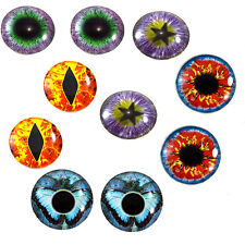 Lot 5 Pairs of 25mm Fantasy Glass Eyes for Jewelry Taxidermy Art Doll Sculptures