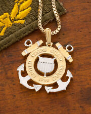 "Coast Guard Pendant & Necklace Handcut Challenge coin 1"" Diameter ( # 791 )"