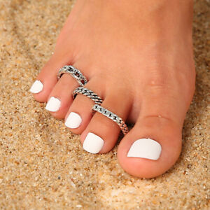 3PCs/set Adjustable Jewelry Silver Open Toe Ring Finger Foot Rings New