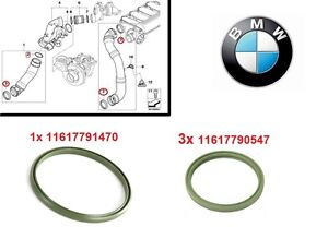 Genuine BMW Intake Air Charge Line SET Seal Gasket 1x + 3x E46 E60 E90 E70 E63