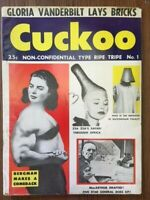Cuckoo Magazine #1 Nov 1955 Vintage Humor & Satire Marilyn Monroe Zsa Zsa Pinups