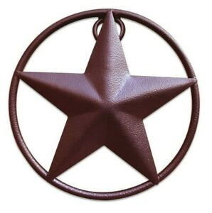 """Rustic Dimensional Barn Star - 5"""" Brown Metal Country Farmhouse Home Decoration"""