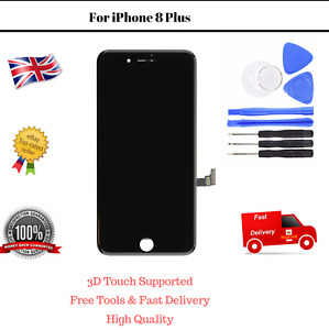 Touch LCD Screen iPhone 8 Plus Black Display Replacement Assembly with Tools
