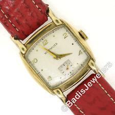 Mens Vintage 10k Gold Filled Wittnauer 27.75mm Hand Winding Swiss Wrist Watch