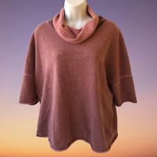 Standard James Perse Cowl Neck Sweatshirt Cropped Raglan Short Sleeve Womens XL