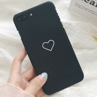 Slim Luxury Cute Heart Shockproof PC Phone Case Cover for iPhone 8 7 Plus 8 7 X