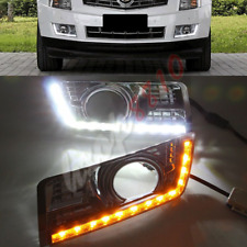 Silver Chrome Fog/Driving Lights Daytime Running Lamp DRL For 10-16 Cadillac SRX