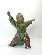 Très jolie figurine chinoise en porcelaine 17 cm, arts martiaux ?