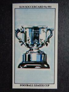 The Sun Soccercards 1978-79 - Trophies - Football League Cup #993