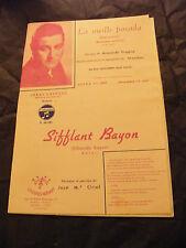 Partition La Vieille posada Jorge Cardoso Sifflant Bayon 1955