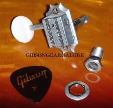 Gibson Les Paul Tuner Kluson Deluxe White Button Peg Guitar Parts Tuning Machine