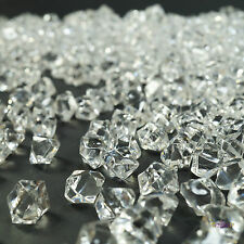 500pcs Clear Mini Acrylic Ice Crystals Wedding Table Scatters Decorations Xmas