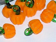 1pc tiny Miniature Halloween PUMPKINS Glass Fruit Lampwork pendant charm bead NW
