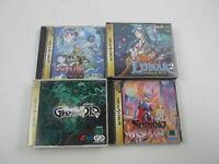 4 games Lunar Grandia SET Sega Saturn Japan Ver Segasaturn