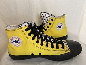 Converse Chuck Taylor All Star Yellow High Top Mens Sz 15 Lace Up Shoes stars