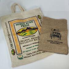 Himalayan Organic Brown Basmati Rice Bag Zip & Handle + Amish Country Popcorn