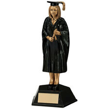 Resin Female Graduation Figure Trophies Academic Awards 170mm FREE Engraving
