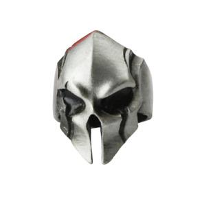 Vintage Spartan Helmet Alien Head Mask Ring Punk Gothic Biker Ring Adjustable