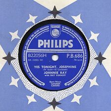 "UK #1 JOHNNIE RAY 78 ""YES TONIGHT JOSEPHINE / NO WEDDING TODAY"" PHILIPS PB686 V+"