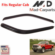 Window Deflector Visor Shade Sun Guard For 1999-2016 Ford F-250 Regular Cab 2pc