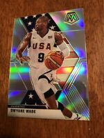 2019-20 Mosaic Dwyane Wade TEAM USA Silver Prizm Refractor SP Heat Cavaliers