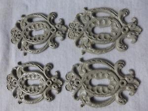 FOUR Antique Solid Cast Brass Key Hole Covers SET 814 BB