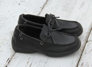 KENNETH COLE Boys Size 12 Black Moccasin Dress Shoes NEW
