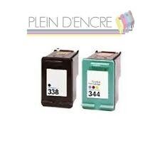 Lot de 2 cartouche d'encre HP 338 XL + HP 344 XL pour imprimante Deskjet 460