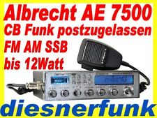 CB FUNK ALBRECHT AE 7500 AM/FM/SSB Funkgerät 12Watt postzugelassen NEU