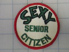 Vintage Sexy Senior Citizen patch 70s-80s disco biker trucker Funny 1