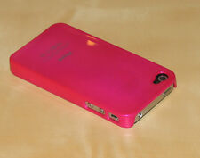 Hot PInk Hard Back Skin Case Cover For Apple iPhone 4G
