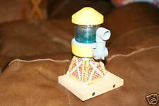 VINTAGE YELLOW WATER TOWER -WOOD~Fits Train track