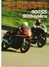 1980 Ducati 900SS 900 Hailwood Replica 4 page brochure
