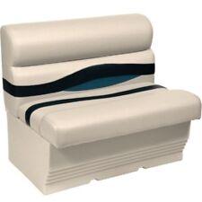 "Wise 36"" Pontoon Bench Seat/ Boat Seat/ Color: PLATINUM/ BLUE"
