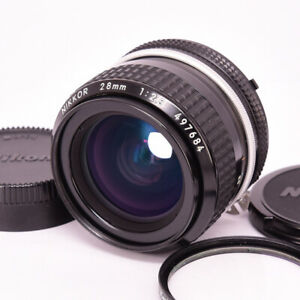 Nikon Ai Nikkor 28mm f/2.8 Wide Angle MF Lens with FR Caps [Very Good] [ FedEx ]
