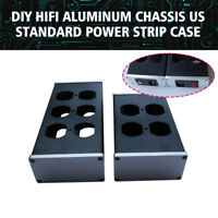 DIY Aluminum HIFI Chassis Case PSU Box US Standard Power Strip 4/6 Outlets