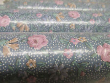 WALLPAPER MIRAGE LOT 5 PINK, YELLOW, BLUE, GREEN FLOWERS DOTTED BACKGROUND