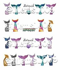 Mermaid Nail art Decals Water Transfer decals!  Mermaid Nail Art