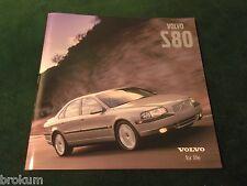 MINT ORIGINAL 2001 VOLVO S80 DEALER SALES BROCHURE W/ COLOR CHART (BOX 357)