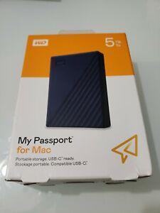Western Digital WD My Passport For Mac 5TB Portable Drive USB-C WDBA2F0050BBL M