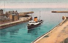 DIEPPE 13 LL l'entrée du port arrivée du bateau vapeur de newhaven couleurs