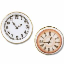 Dollhouse 2  Wall Clock Set 1.392/5 Reutter Miniature non-working 2018