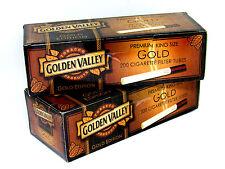 2 Golden Valley Gold Edition King Size Cigarette Tubes (box) 200 ea Filter Tubes