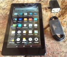 "Amazon Kindle Fire 7 M8S26G 9th Generation Wi-Fi 7"" Tablet - BLACK EUC"