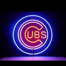 """New Chicago Cubs World Series Champions Neon Light Sign 18""""x18"""""""