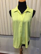 Ruby and Jenna button down criss cross back top Yellow Sz S