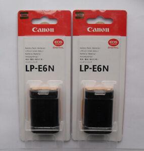 2 x LP-E6N Battery For Canon EOS 5D Mark II 70D 60D 60Da LP-E6 Mark III 5D 6D