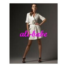 83fae3ad618b Milly Natural white Ivory silk Jackie shirt dress 4 belted cargo