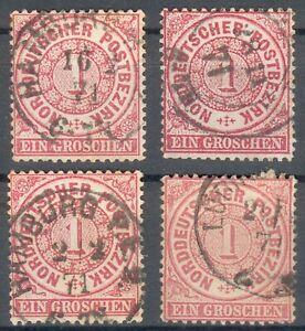 NDP Lot/Posten mit 4x Mi.-Nr.16 o - feinst